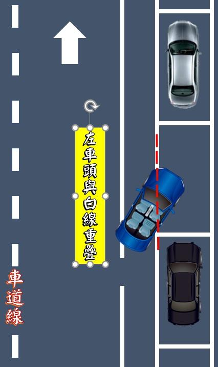 路邊停車-左車頭與白線重疊